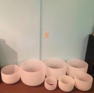 Crystal singing bowls.